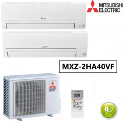 Aire Acondicionado 2x1 Mitsubishi. Cuenta con 2 Unidades Interiores MSZ-HR25VF 2000 frigorías + MSZ-HR35VF 3000 frigorías
